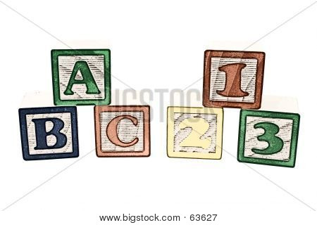 ABC And 123 Blocks Illustration