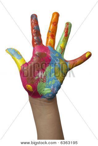 Color pintado a mano de niño