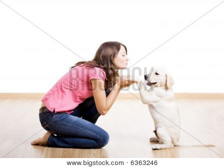 Playing With A Puppy