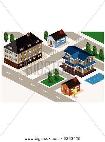 Rich House Isometric