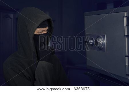 A Thief Thinking The Lock Code