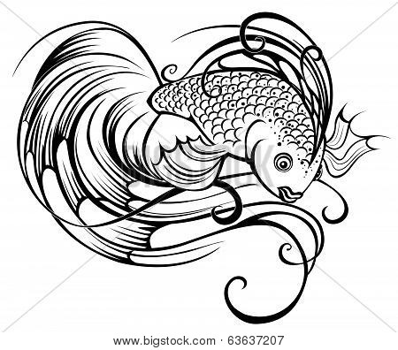 Stylized Beautiful Fish