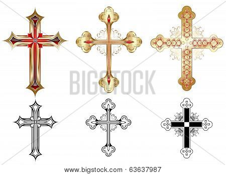 Three Gold Cross