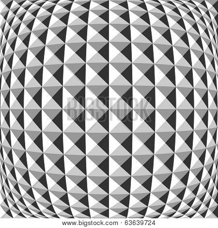 Design Monochrome Warped Geometric Pattern