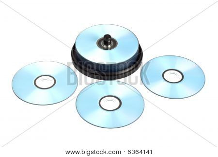 Stack Of Printable Discs
