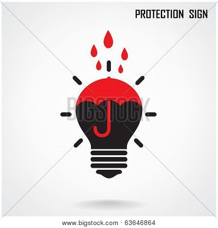 Creative Lamp And Protection Concept Background