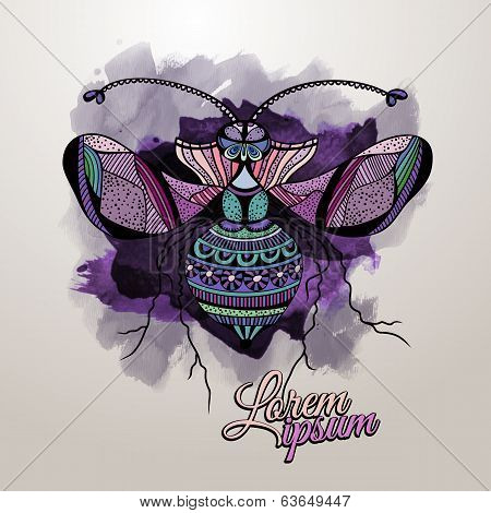 Vector decorative insect butterfly