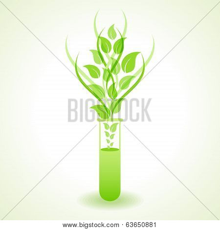 Herbal chemistry concept stock vector