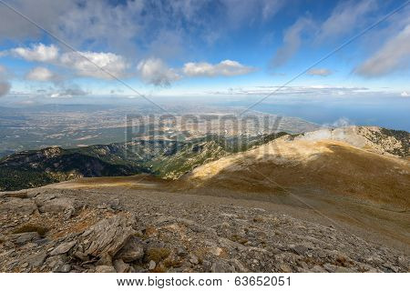 Panoramic View From Olympus Mountain