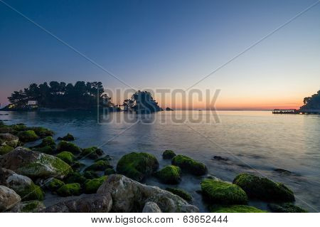 Panagias virgin mary island in Parga Greece
