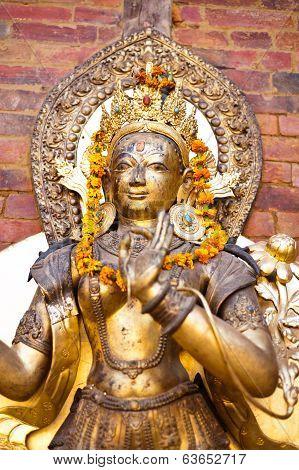 Sculpture Of Deity, Kathmandu, Durbar Square, Nepal
