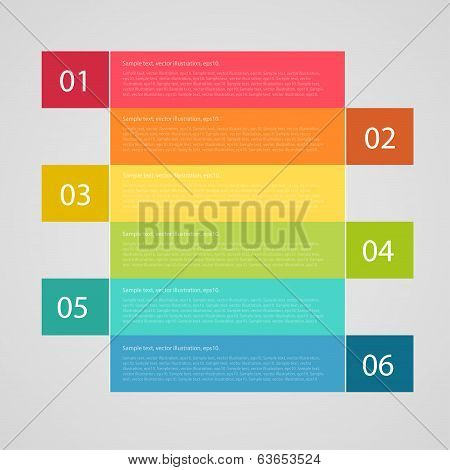 infographics options banner. Vector illustration. can be used for presentation, number options, web