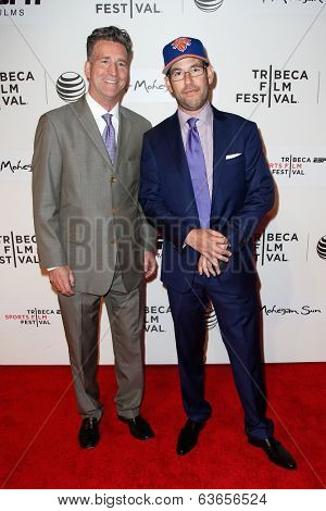 NEW YORK-APR 17: Producers Jim Lefkowitz (L) and Doug Ellin attend the 'When the Garden Was Eden' premiere at the 2014 TriBeCa Film Festival at the BMCC Tribeca PAC on April 17, 2014 in New York City.