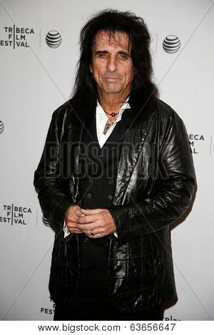 NEW YORK-APR 17: Musician Alice Cooper attends the 'Super Duper Alice Cooper' premiere during the 2014 TriBeCa Film Festival at Chelsea Bow Tie Cinemas on April 17, 2014 in New York City.