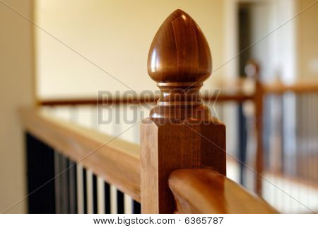 Wood Stair Rail Detail