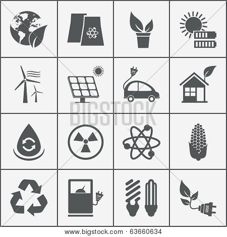 Set of eco energy icons