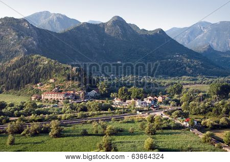 Virpazar is located on a river that flows into Skadar Lake, Montenegro