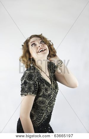 Woman dressed as flapper