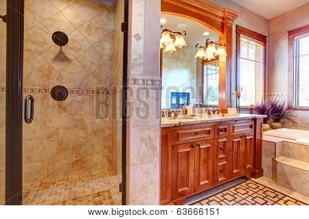 Luxury Bathroom. Tropical Theme Interior