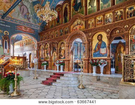 Samara, Russia, Church Of The Resurrection In The Holy Resurrection Monast