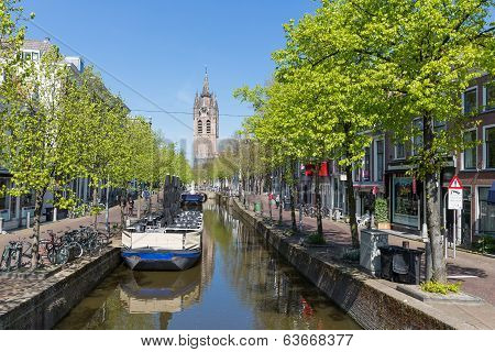 Townscape From The Center Of Delft, The Netherlands