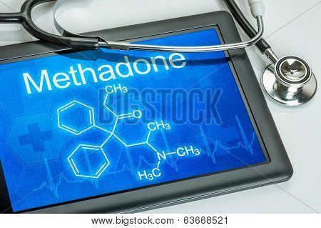 Tablet with the chemical formula of methadone