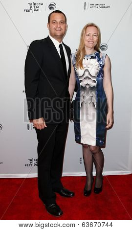NEW YORK-APR 18: Producers Jamie Patricof (L) and Lynette Howell attend the
