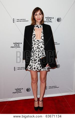NEW YORK-APR 18: Granddaughter of Francis Ford Coppola, filmmaker Gia Coppola attends the