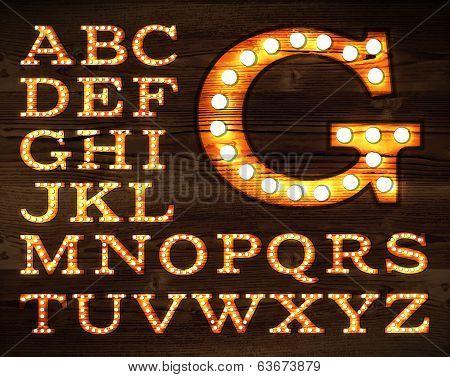 Lamp alphabet old style