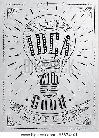 Poster good idea coffee coal