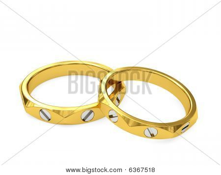 Yellow And White Gold Exclusive Wedding Rings