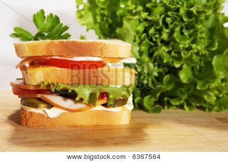 Dubble Salami Sandwich