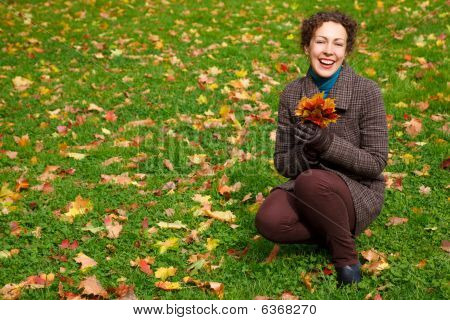 A Smiling Girl In A Park