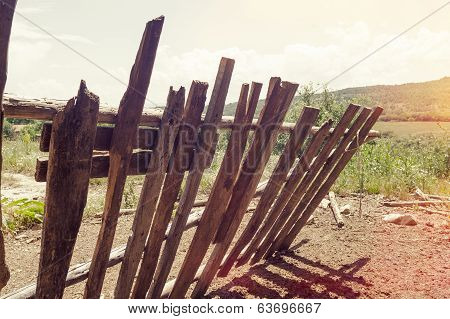 Vintage picket fence
