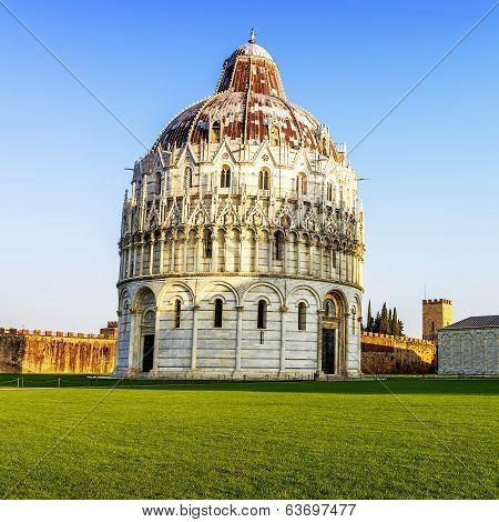 baptistry of Pisa Tuscany Italy