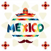 image of mexican fiesta  - Ethnic mexican background design in native style - JPG