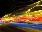 pic of low-light  - Traffic lights at night - JPG