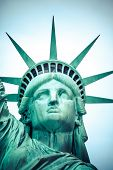 stock photo of statue liberty  - The Statue of Liberty at New York City - JPG