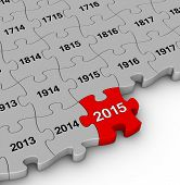 pic of pass-time  - 2015 year time passing jigsaw puzzle - JPG