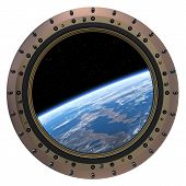 picture of starship  - Space Station Porthole - JPG