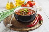 pic of mexican  - Chili soup with red beans and greens - JPG