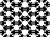 foto of octagon  - Design seamless monochrome octagon geometric pattern - JPG