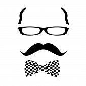 pic of goatee  - Hipster man bearded man silhouette illustration vector - JPG