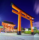 foto of inari  - Fushimi Inari Taisha Shrine in Kyoto - JPG