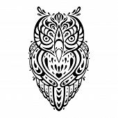 foto of swirly  - Decorative Owl - JPG