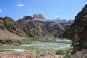 picture of zoroaster  - silver bridge across the Colorado River at the bottom of the Grand Canyon Arizona - JPG