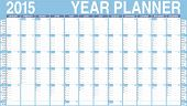 stock photo of thursday  - Vector Calendar for 2015 - JPG