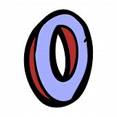 cartoon letter O