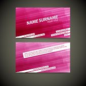 Vector modern business card template - both front and back side