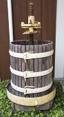 picture of wine-press  - Old wine press at the vineyard in Napa Valley - JPG
